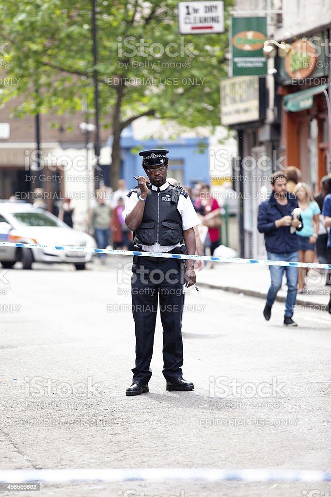 Policía en la escena del crimen - foto de stock