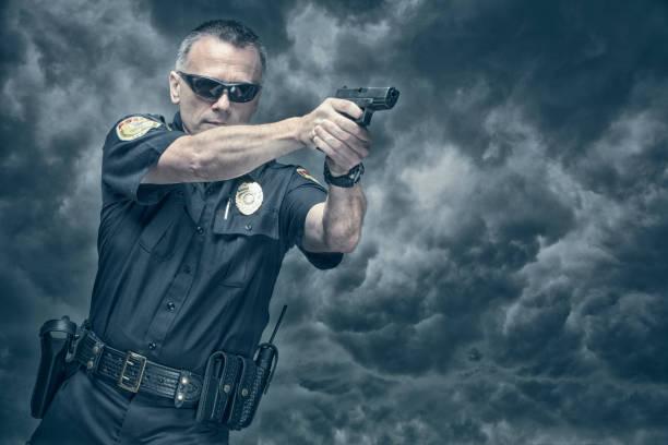 Pistolet de tir sa police - Photo