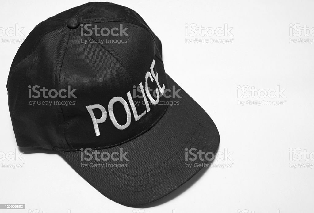 policemans cap stock photo