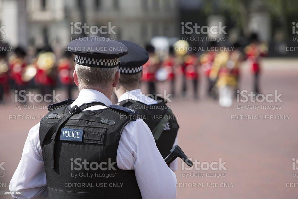 Policemen On Guard stock photo