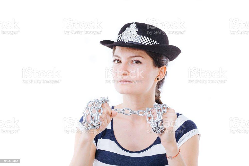 Femme policier  photo libre de droits