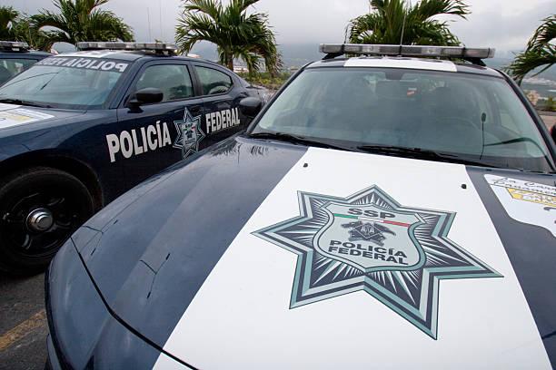 Policia Federal Mexico stock photo