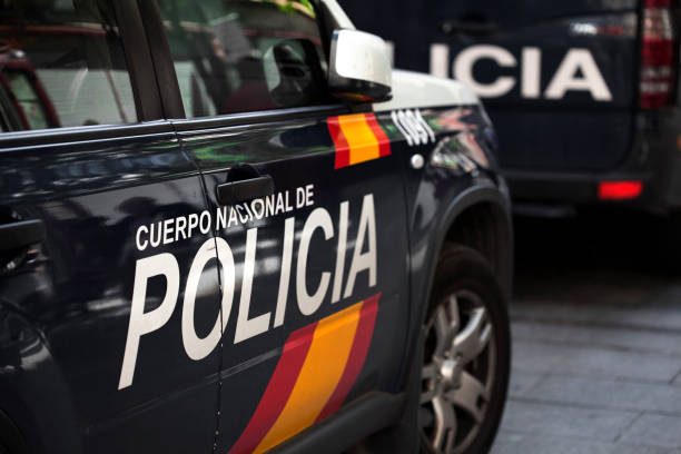 policia spanish police car spain stock pictures, royalty-free photos & images
