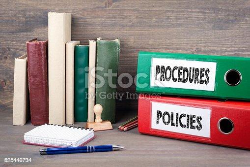 464906632 istock photo Policies and Procedures 825446734