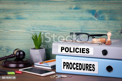 464906632 istock photo Policies and Procedures. Successful business, law and profit background 887606138