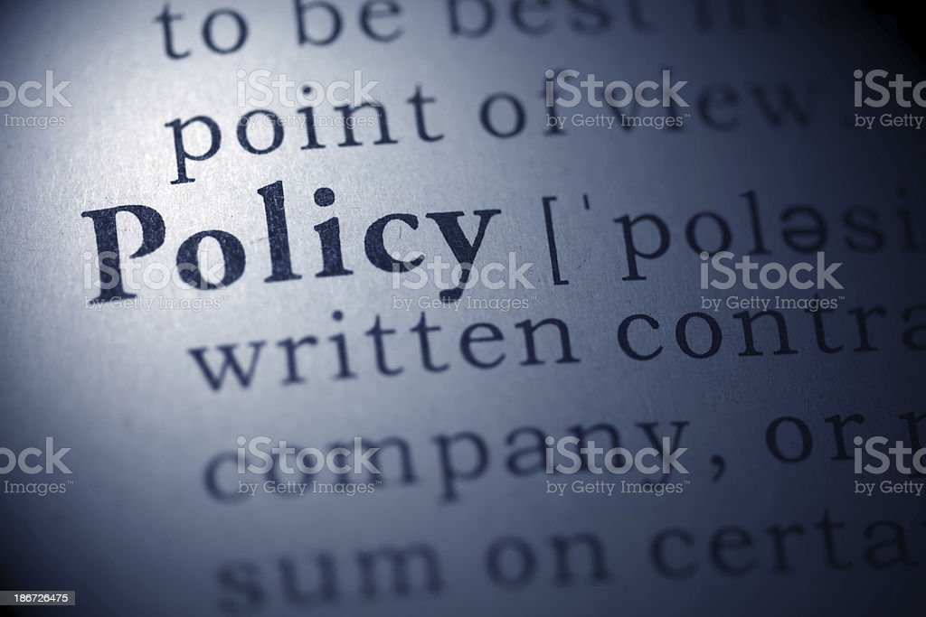 policy royalty-free stock photo
