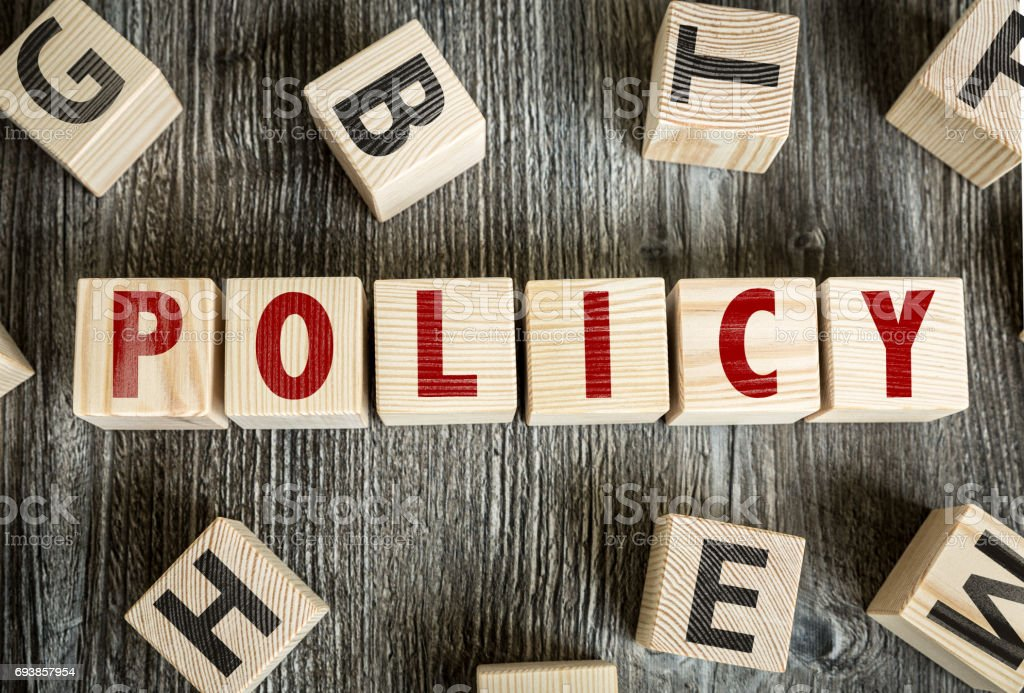 Policy stock photo