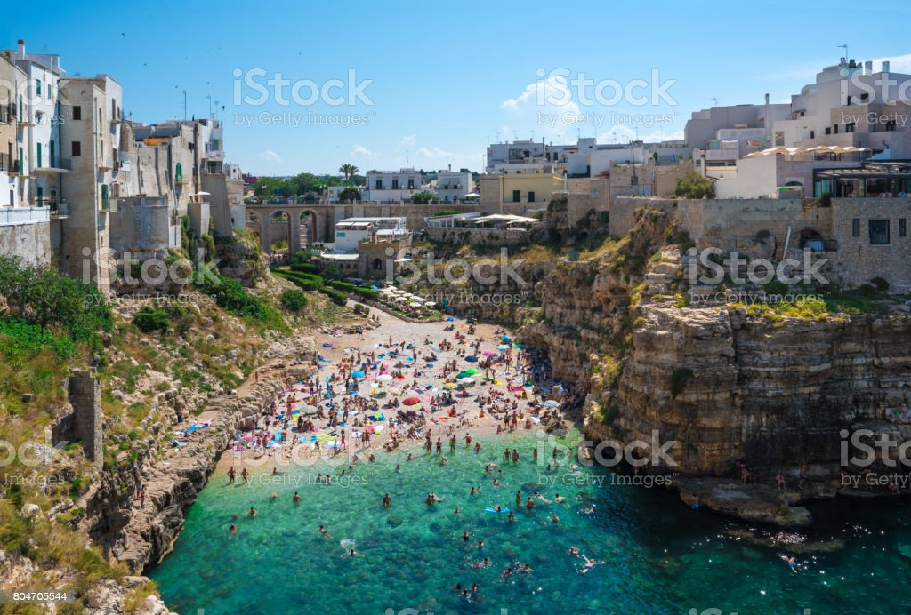 Polignano a Mare (Puglia, Italy) stock photo