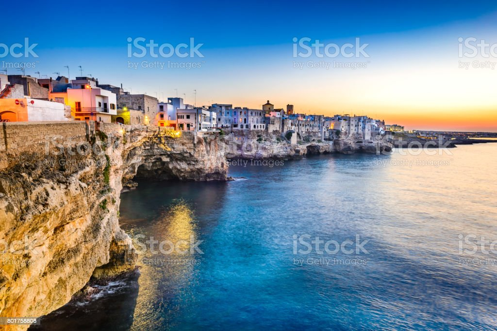 Polignano a Mare, Pulgia, Italy stock photo