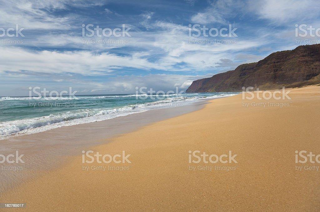 Polihale Beach on Kauai, Hawaii royalty-free stock photo