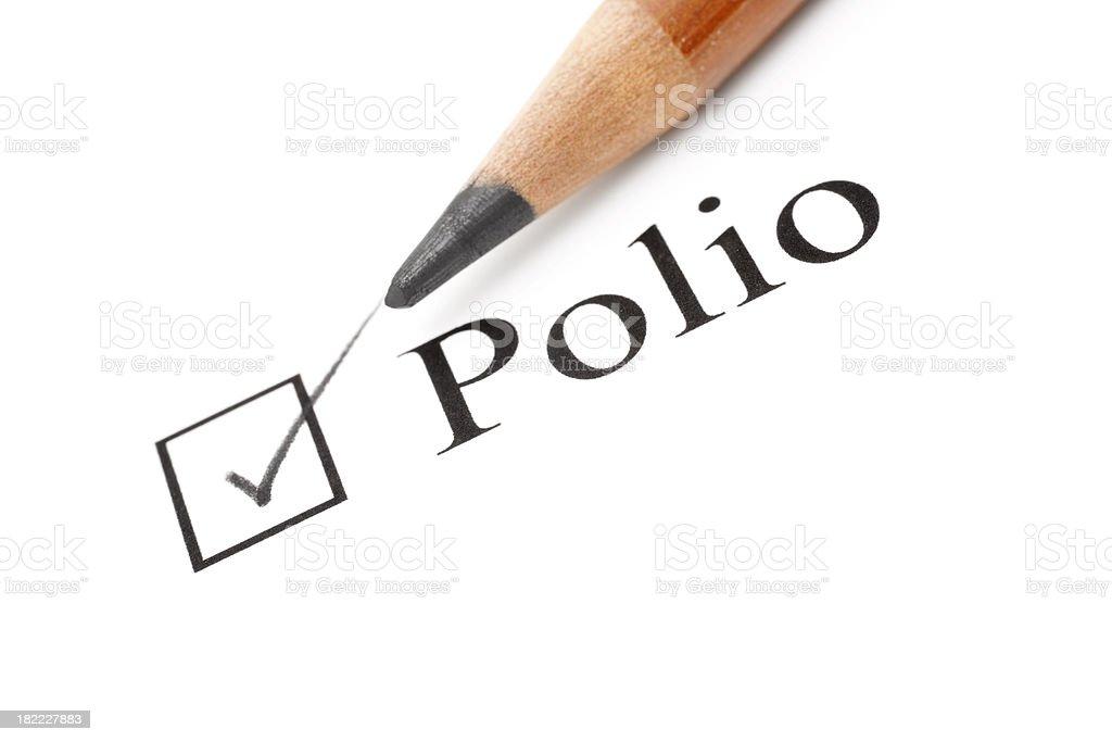 polio health care check list royalty-free stock photo