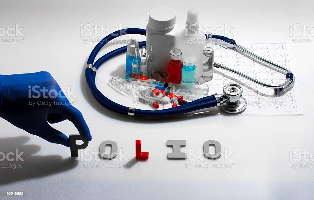 Polio stock photo