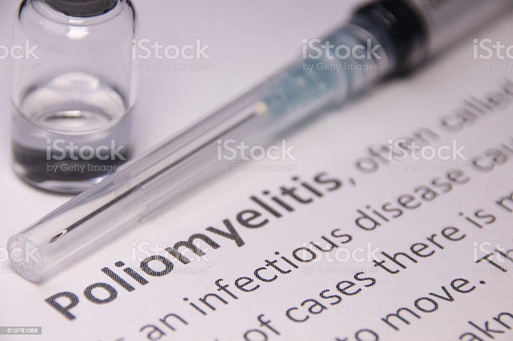 Poliomyelitis Vaccine stock photo