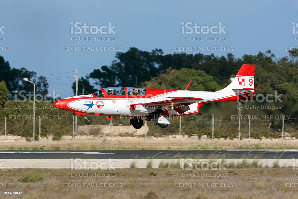 Polish Air Force Display Team Trainer Aircraft stock photo