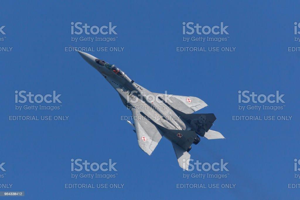 Een Poolse luchtmacht MiG-29 tijdens de oefening Frisian Flag foto