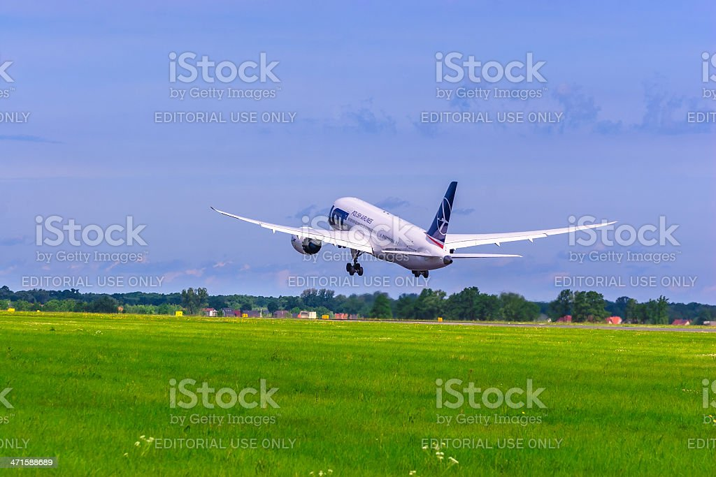 Polish Airlines LOT Boeing 787 Dreamliner royalty-free stock photo