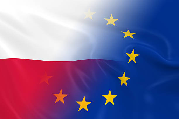 Polish and European Relations Concept Image stock photo