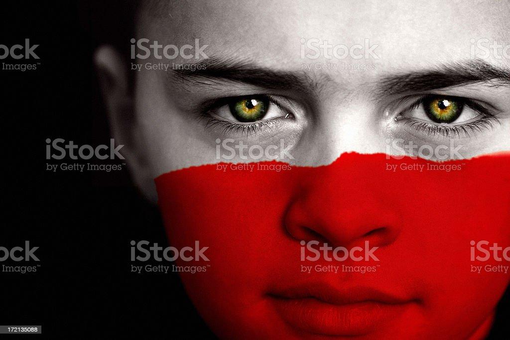 Polish boy stock photo
