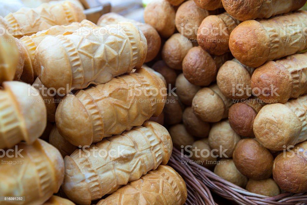 Polish cheese oscypek stock photo
