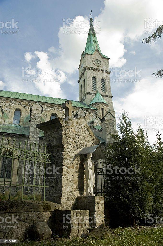 Polish Church royalty-free stock photo