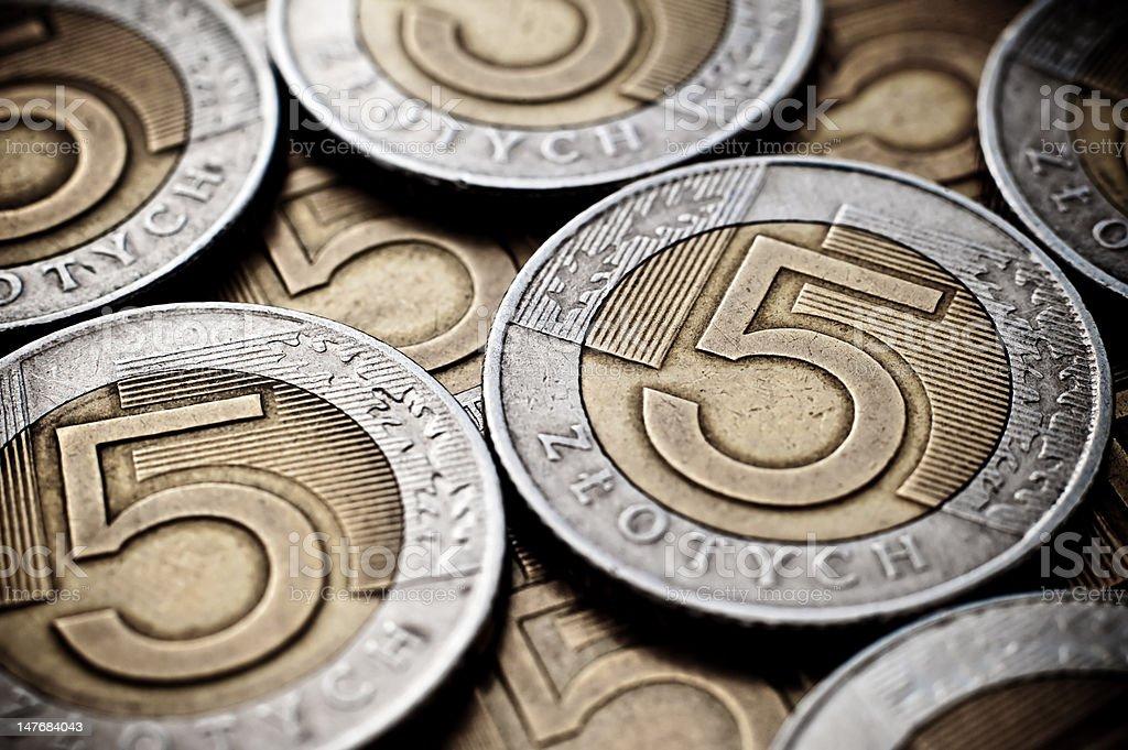 Polnische Münzen Hintergrund – Foto