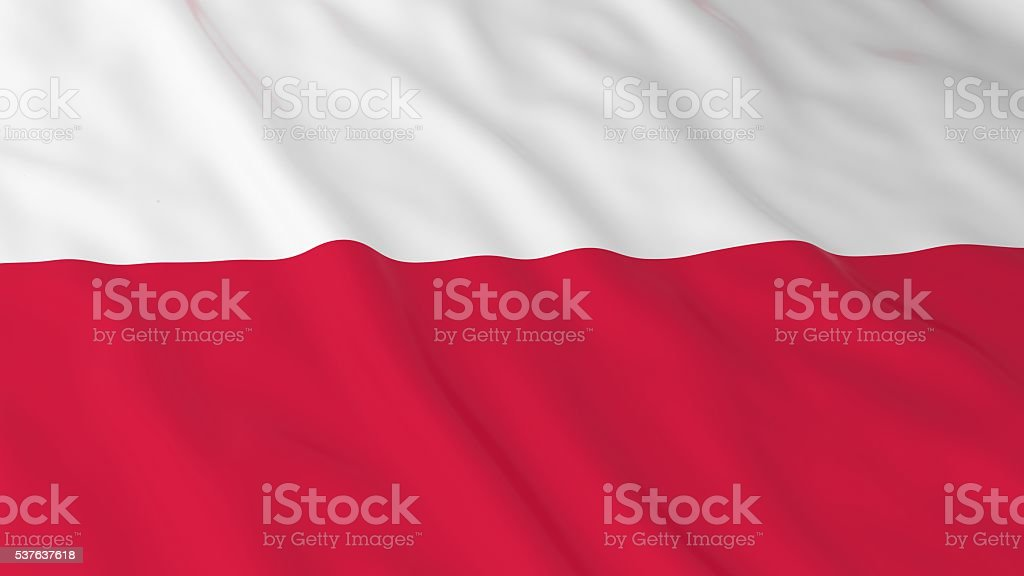 Polish Flag HD Background - Flag of Poland 3D Illustration stock photo