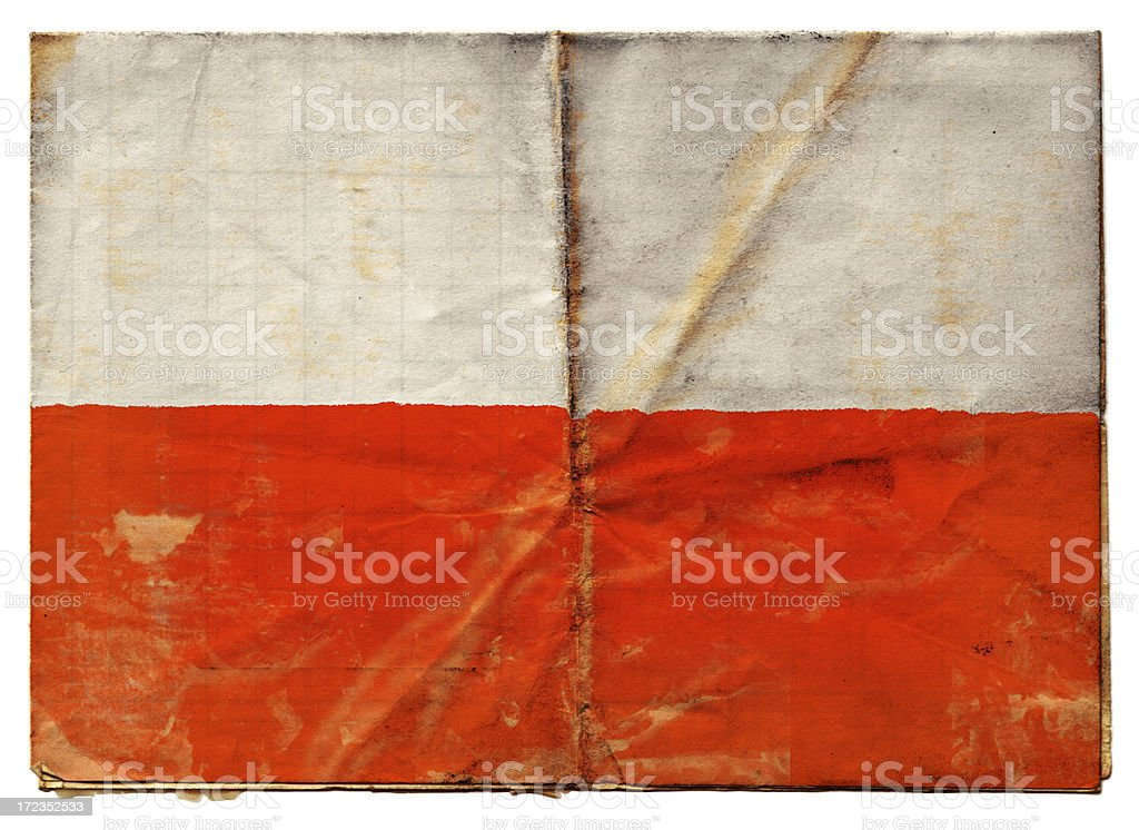 Polish flag (XXL) stock photo