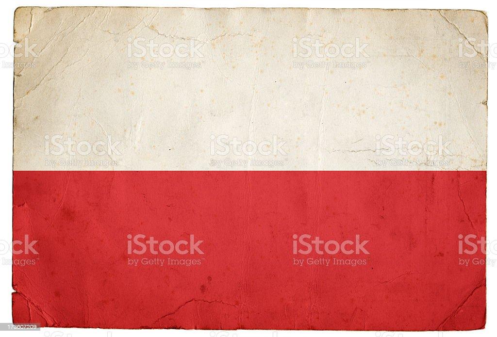 Polish Flag stock photo