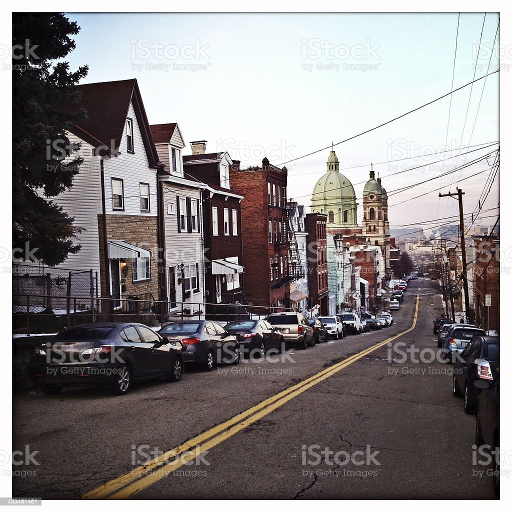 Polish Hill Pittsburgh stock photo