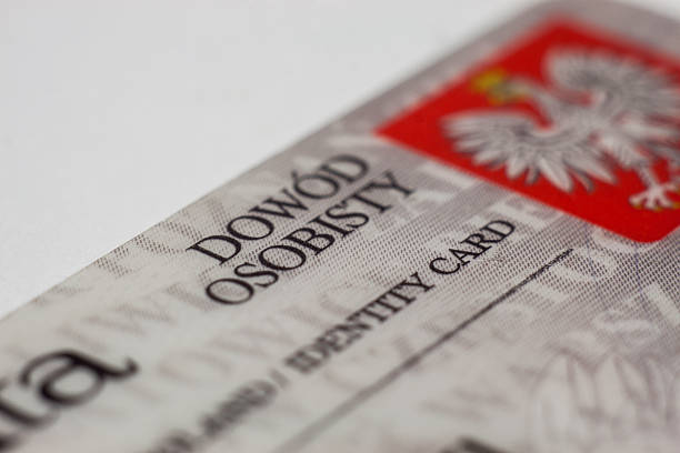 polish identity card - identity card stock photos and pictures