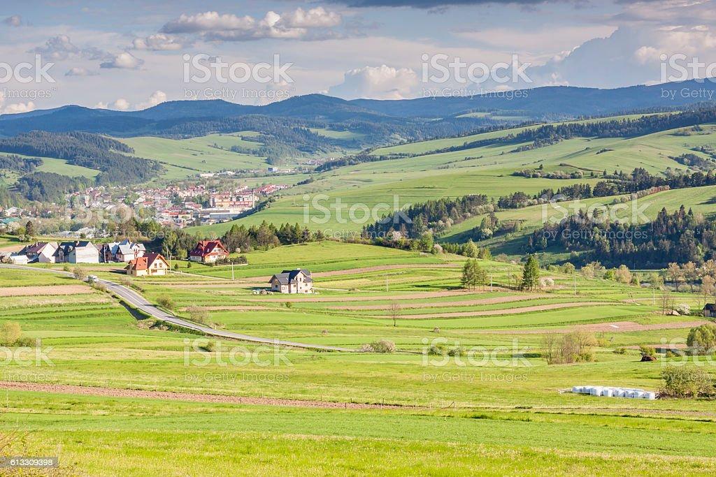 Polish landscape stock photo