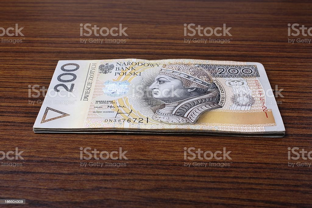 Polish money royalty-free stock photo