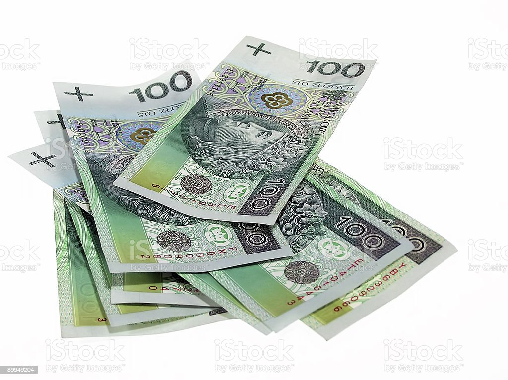 Polish money royalty-free stock photo