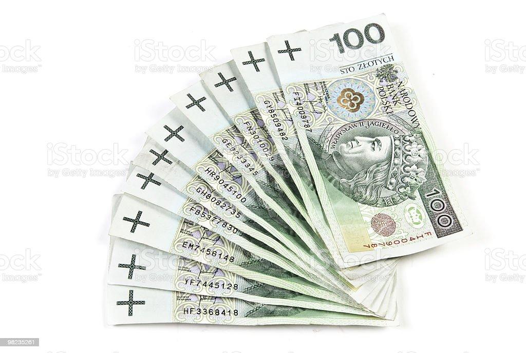 Polacco denaro foto stock royalty-free