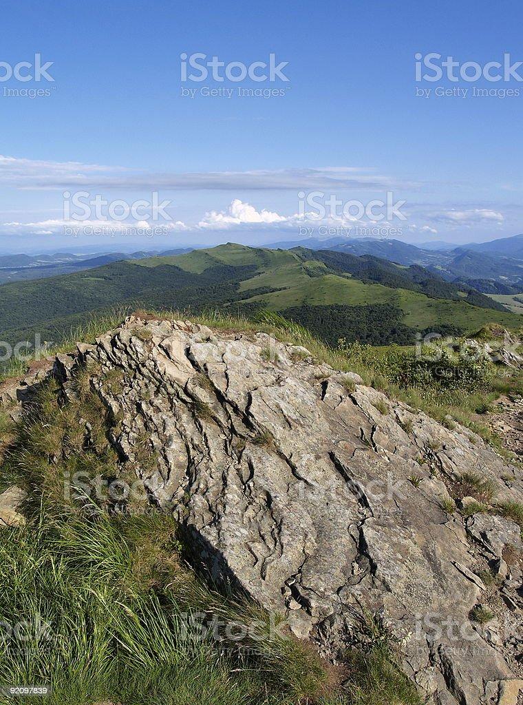Polish Mountains royalty-free stock photo