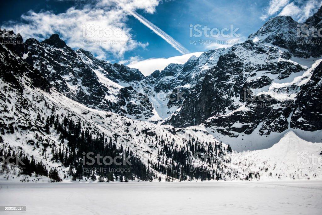 Polish mountains Tatry stock photo