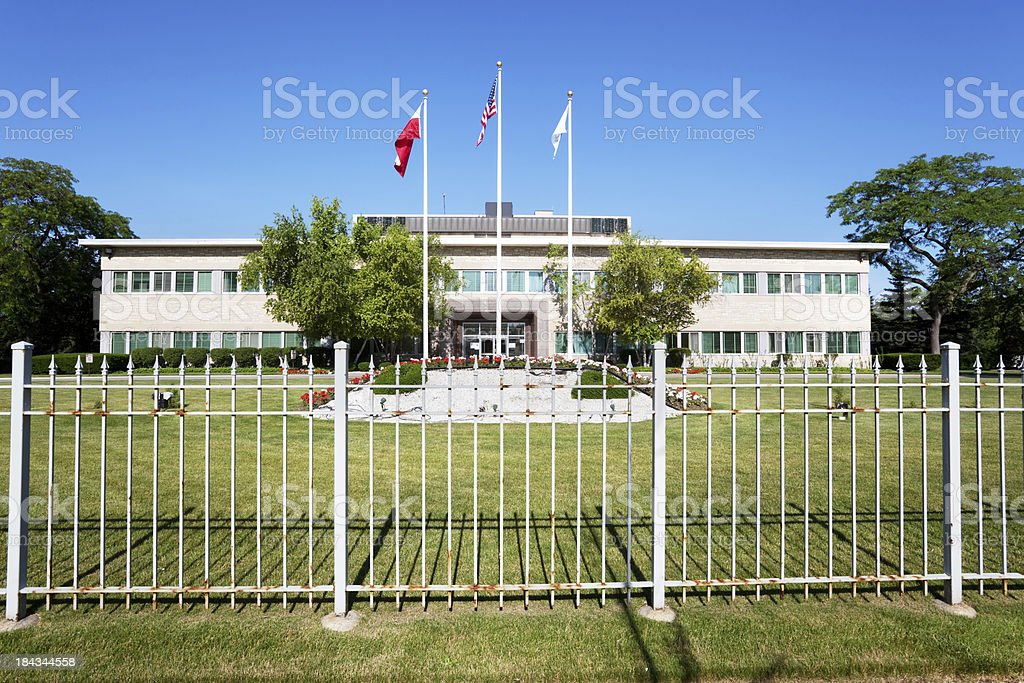 Polish National Alliance Building in Forest Glen, Chicago royalty-free stock photo