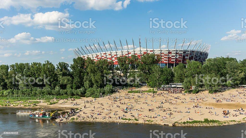 Polish National Stadium stock photo