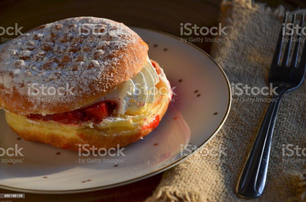 Polish Paczki Pastry Doughtnut stock photo