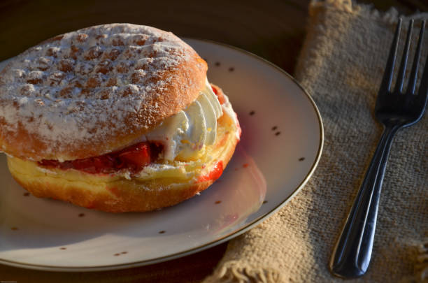 Polish Paczki Pastry Doughtnut stock photo