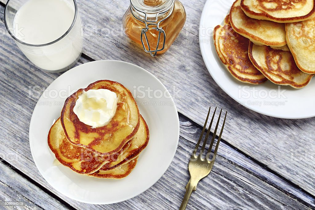 Polish pancakes stock photo