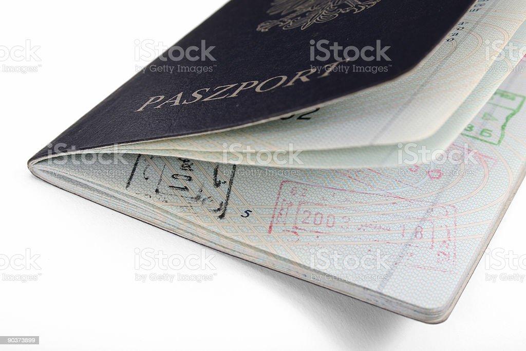 Polish Passport royalty-free stock photo