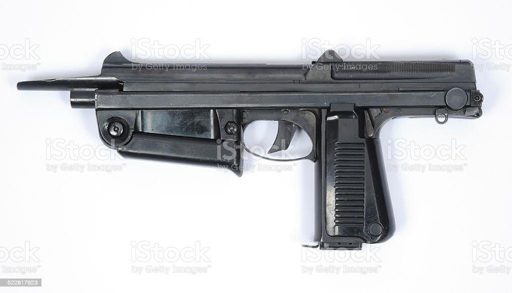 Polish PM63 SMG machine gun stock photo