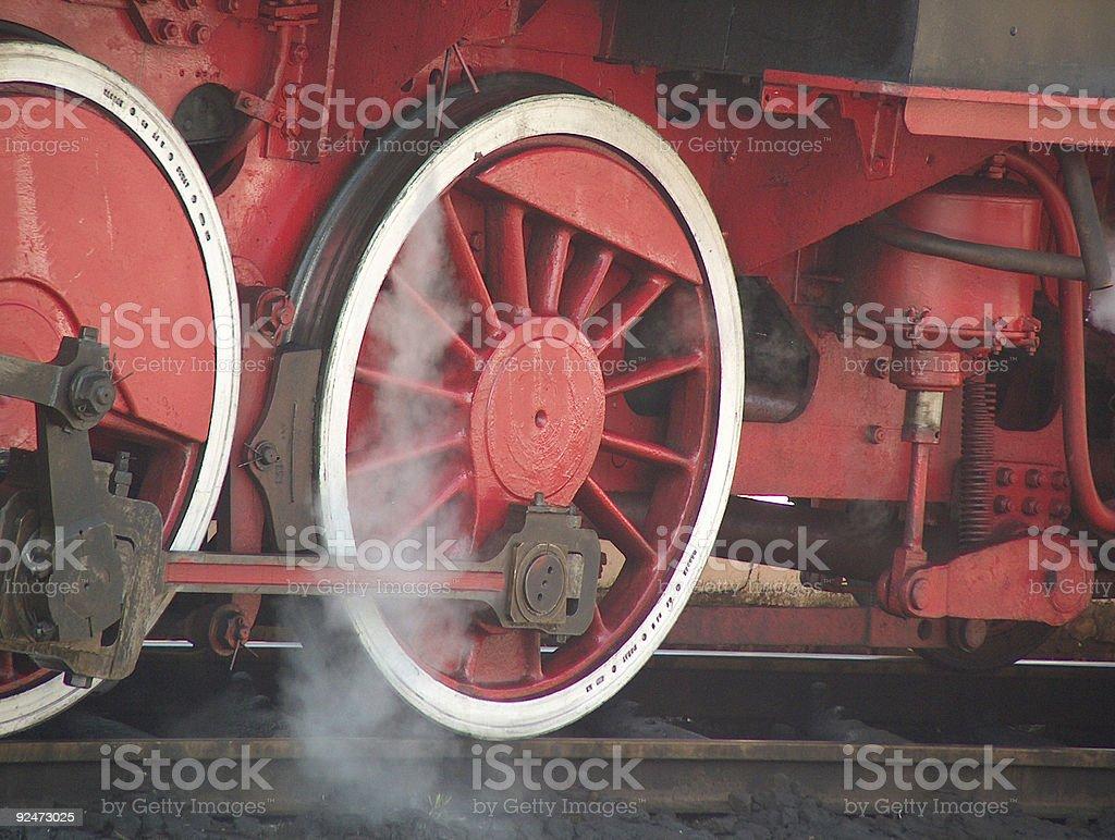 Polish Steam Engine Wheels royalty-free stock photo
