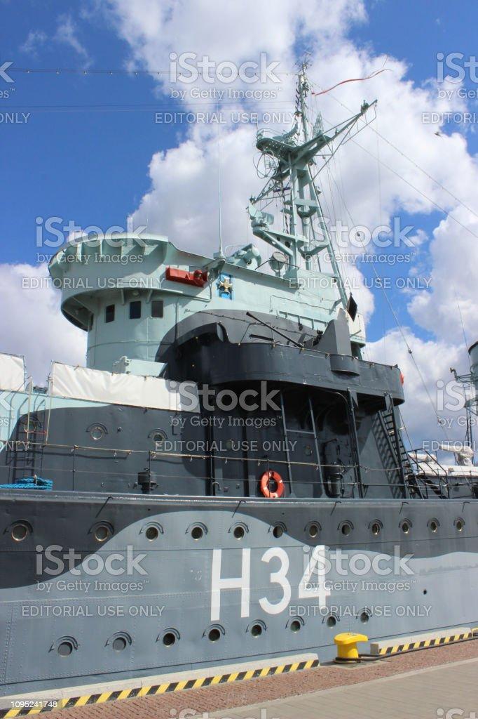 Polish Warship Museum Battleship Destroyer Blyskawica Moored
