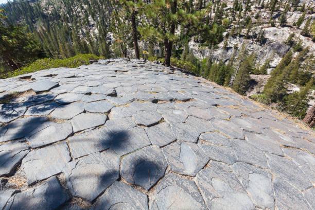 Polished Columnar Basalt stock photo