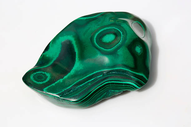 polished malachite