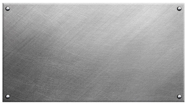 polished metal plate - metal stock photos and pictures