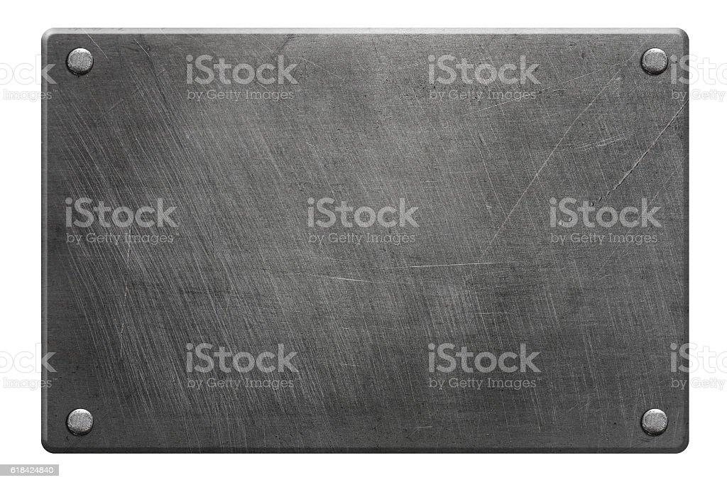 Poliertes Metall-Teller – Foto