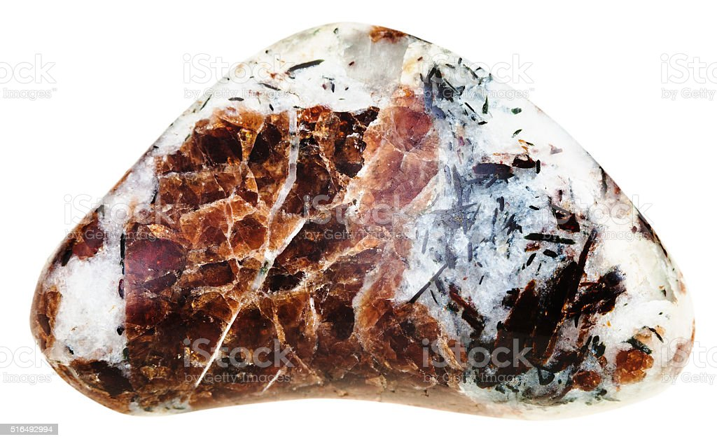 polished piece of Eudialyte mineral gem stone stock photo
